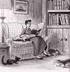 Bill Peet Illustration  for his book, Capyboppy. I want to read this book because I've judged it by its title and illustration and found it adorable.