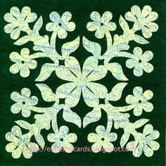 Extreme Cards and Papercrafting: shamrock Hawaiian quilt card