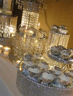 Blinged out candy table Wedding Candy, Our Wedding, Dream Wedding, Wedding Ideas, Wedding Sweets, Candy Table, Dessert Table, Bling Candy Buffet, Candy Buffet Tables