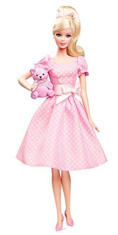 barbie poupée IT'S A GIRL robe rose et nounours naissance X8428 2013 barbie collector