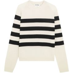 Striped cashmere sweater JIL SANDER ($260) ❤ liked on Polyvore featuring tops, sweaters, cashmere top, wool cashmere sweater, jil sander top, striped sweater and stripe cashmere sweater