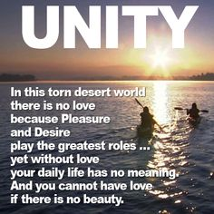 The purest and most wonderful thing is #love. We get caught up in #pleasure, #desire and others, but without love, what good are these things? #UNITY explores what love for all truly is.  #DONATE TO THE #UNITYFILM #KICKSTARTER: http://kck.st/14wtCHl