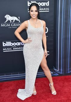 Becky G at Billboard Music Awards in Las Vegas Becky G Style, Becky G Outfits, Rapper, Chantel Jeffries, Billboard Music Awards, Celebrity Style, Celebrity Women, Celebrity News, Nice Dresses