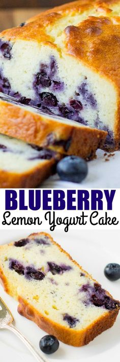 Blueberry Lemon Yogurt Cake | Culinary Hill