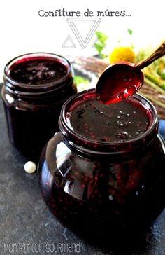 Recette Confiture de mûres (Confiture) - The Best Healthy Comfort Recipes Ripe Fruit, Fruit Jam, Jam Recipes, Wine Recipes, Food Storage, Ale Recipe, Compote Recipe, Pots, Anti Inflammatory Recipes