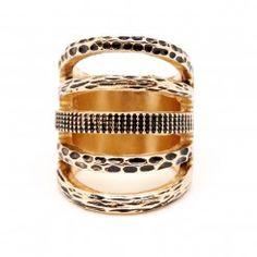 hammered cutout ring