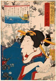 Kunichika, Sawamura Tanosuke III as the Geisha O-Ben-Toyohara Kunichika…