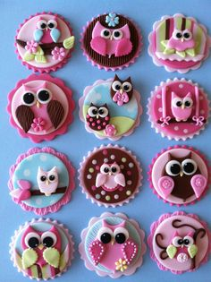 Hey, I found this really awesome Etsy listing at http://www.etsy.com/listing/129832573/owl-cupcake-toppers