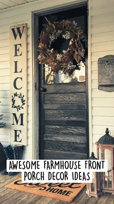 Decor, Front Porch Makeover, Farmhouse Front Porches, Farmhouse Decor, Front Porch Decorating, Outdoor Living, Fall Decorations Porch, Outdoor Projects, Outdoor Fireplace