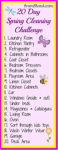 20 Day Spring Cleaning Challenge