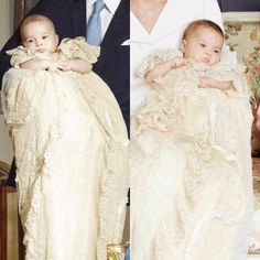 October 23, 2013 - Prince George (left) & July 5, 2015 - Princess Charlotte (right) on their christening days. Description from pinterest.com. I searched for this on bing.com/images