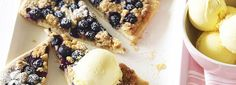 Blueberry Crumble Pizzas
