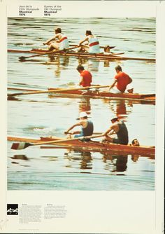 Original Vintage Poster 1976 Montreal Summer Olympics Yachting Rowing Boat Sail  #Modernism