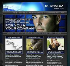 Website for Platinum Press