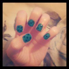 My teal dice nails... so random...