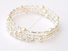 Pearl Bracelet - Swarovski Pearl Bracelet - Bridal Jewellery - Wedding Accessori £19.99