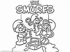 Billedresultat for smurfs coloring pages