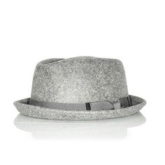 Take a loot at this elegant wool grey pork pie hat from Punk Monsieur.