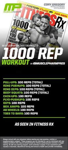 1,000 Rep Workout