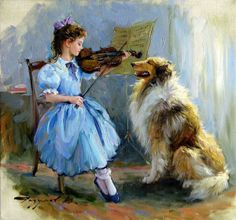 Childhood. Paintings by artist Konstantin Razumov Paintings