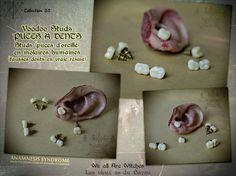 Human Molars (resin) studs by Verope's Anamnesis Syndrome. ///// Paire de puce d'oreilles, Gothique, Vaudou, réplique de molaire humaine en résine