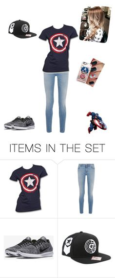 """""""Captain America"""" by dragon-shifter ❤ liked on Polyvore featuring art"""