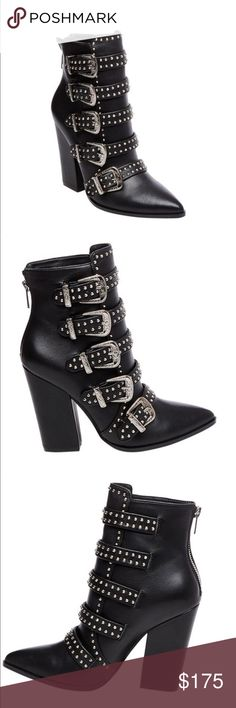 Steve madden brand new booties Brand new never been worn size 10. Buckle details. Box not included Shoes Ankle Boots & Booties