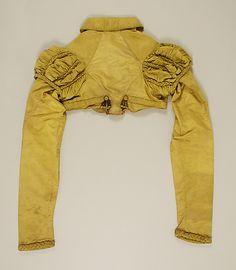 Regency Silk Spencer Jacket. Back View. Circa 1815.