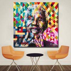 Tableau Pop Art Nelson Mandela Portrait Modern Pop Art, Modern Wall Decor, Contemporary Art, Nelson Mandela, Pop Art Decor, Decoration, Tableau Pop Art, Pop Art Portraits, Canvas Art