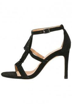 Pier One - Højhælede sandaletter / Højhælede sandaler - black