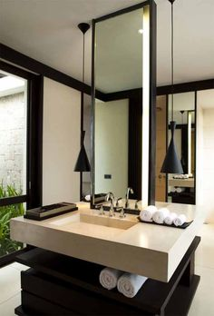 Modern bathroom vanity.