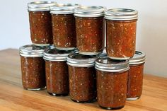canning salsa! Step by step in this blog! Just what I needed for all my tomatoes!