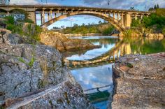 Rainbow bridge, Sacramento, California  Well, really Folsom..but it's just down the road!
