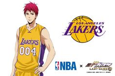 【NBA×劇場版黒子のバスケ】コラボビジュアル第4弾は赤司!コラボするチームはロサンゼルス・レイカーズです!かつてマジック・ジョンソンが所属し、日本でも知名度が高い名門チーム。きれいな黄色のユニフォームを着た赤司はなんだか新鮮ですね。