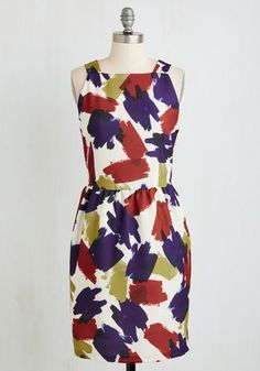 Brush Into Print Dress. Flaunting a dress like this colorful Dear Creatures number is guaranteed to set the presses abuzz! #multi #modcloth
