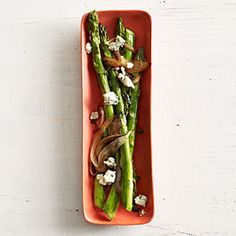 Asparagus with Balsamic Onions and Blue Cheese | MyRecipes.com