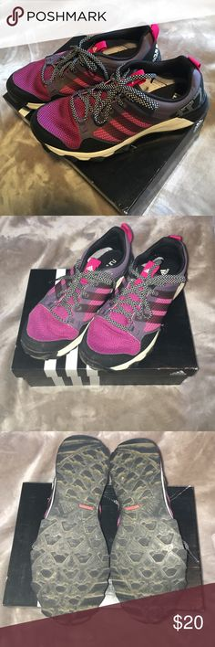 Pink and purple Adidas Super cute.. worn once for maybe an hour.. Adidas Shoes Sneakers