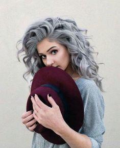 Grey curls