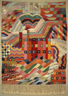 Slit Tapestry Red-Green, author: Gunta Stölzl, 1927–1928. Bauhaus-Archiv Berlin / © VG Bild-Kunst, Bonn 2016.
