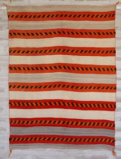 ght 1055 : Banded Child's Blanket : Historic Native American Textile - Nizhoni Ranch Gallery--inspiration Native American Blanket, Native American Rugs, Native American Artwork, Native American Beading, Navajo Weaving, Navajo Rugs, Tapestry Weaving, Southwest Rugs, Blankets For Sale