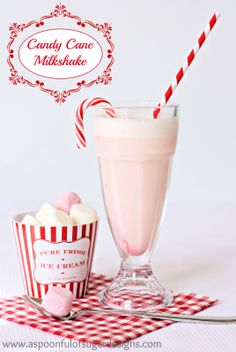 Candy Cane Milkshake | A Spoonful of Sugar