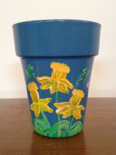 Hand Painted 5 inch Decorative Flower Pot  by DayDreamingDecor, $18.50