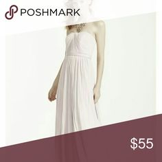 David's bridal Versa Mesh Convertable Beautiful petal pink bridesmaid / formal gown. Can be worn various different ways and is very flattering.   Worn once and dry cleaned, has not been altered.  Missing belt.  Offers accepted. David's Bridal Dresses