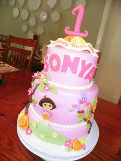 dora the explorer birthday cakes - Bing Images