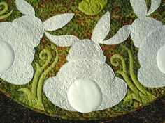 bunny quilt 42 inches round, inspiration for felt candle mat