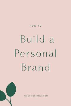 A successful personal brand will allow you to stand apart from your competitors and show up as your true self. Once you have a strong personal brand, there doesn't need to be such thing as competition. After all, people buy from people. Visit fleurircreative.com/blog to find out how you can build and grow your personal brand. #personalbrand #fleurircreative #branding #brand