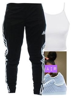"""In That Order ✨"" by wottice19 on Polyvore featuring adidas and LE3NO"