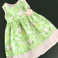 NWT Jessica Ann Toddler Girls 3T Yellow Buttons Bows Summer Dress Sundress