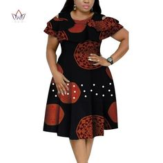 african dress styles New Bazin Riche African Ruffles Collar Dresses for Women Dashiki Print Pearls Dresses Vestidos Women African Clothing African Dresses Plus Size, African Formal Dress, African Party Dresses, Short African Dresses, Latest African Fashion Dresses, African Print Dresses, African Attire, African Print Fashion, Ankara Fashion