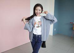 10's trendy style maker en.66girls.com! Rib Accent Open Front Cardigan (DGHF) #66girls #kstyle #kfashion #koreanfashion #girlsfashion #teenagegirls #fashionablegirls #dailyoutfit #trendylook #globalshopping